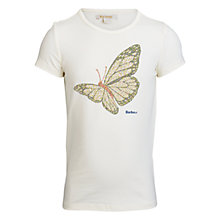 Buy Barbour Girls' Butterfly T-Shirt, Cream Online at johnlewis.com
