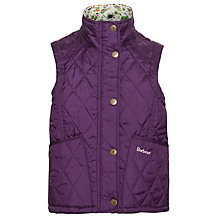 Buy Barbour Girls' Glencove Gilet, Purple Online at johnlewis.com