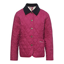 Buy Barbour Girls' Eliza Quilted Coat, Pink Online at johnlewis.com