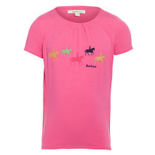 Buy Barbour Girls' Folly Pony T-Shirt, Pink Online at johnlewis.com