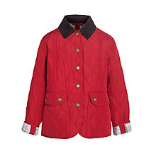Buy Barbour Girls' Turnberry Quilted Coat, Red Online at johnlewis.com