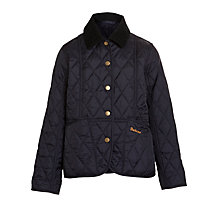 Buy Barbour Girls' Summer Liddles Quilted Coat, Navy Online at johnlewis.com