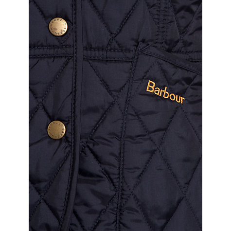 Buy Barbour Girls' Liddlesdale Summer Quilted Jacket, Navy Online at johnlewis.com
