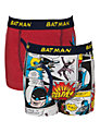 Batman Boys' Trunks, Pack of 2, Red
