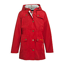 Buy Barbour Girls' Eland Hooded Parker Jacket, Red Online at johnlewis.com