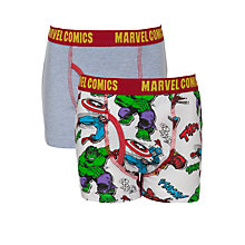 Buy Marvel Comic Boys' Trunks, Pack of 2, Multi Online at johnlewis.com