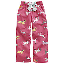 Buy Little Joule Girls' Fleur Pyjama Bottoms, Pink Online at johnlewis.com