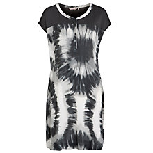 Buy Sandwich Tie Dye Crepe Dress, Charcoal Online at johnlewis.com