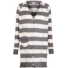 Buy Sandwich Wide Stripe Cardigan, Stone Grey Online at johnlewis.com