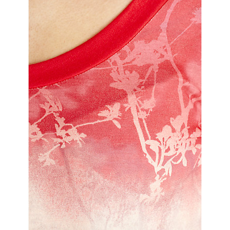 Buy Sandwich Printed Jersey Top, Bright Coral Online at johnlewis.com