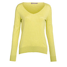 Buy Sandwich V-neck Slub Jumper, Light Green Online at johnlewis.com