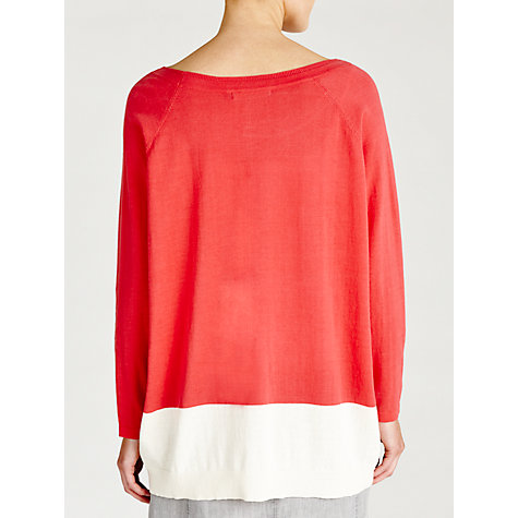 Buy Sandwich Colour Block Jumper, Bright Coral Online at johnlewis.com
