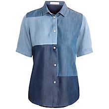Buy Paul & Joe Sister Bricole Panel Shirt, Blue Online at johnlewis.com