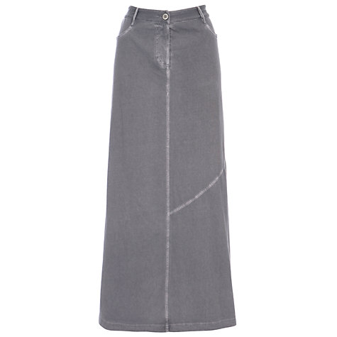 Buy Sandwich Long Jersey Skirt, Stone Grey Online at johnlewis.com