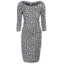 Buy Sandwich Faded Dot Print Dress, Stone Grey Online at johnlewis.com