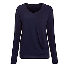 Buy Sandwich Layered Chiffon Top, Navy Online at johnlewis.com