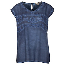 Buy Sandwich Embroidered Top, Navy Online at johnlewis.com