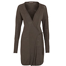 Buy Sandwich Long Tie Cardigan, Charcoal Online at johnlewis.com