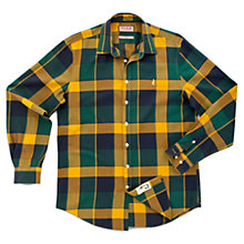 Buy Thomas Pink Stratchey Check Long Sleeve Shirt, Yellow/Navy/Green Online at johnlewis.com