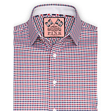 Buy Thomas Pink Tonyn Check Shirt, Navy/Red Online at johnlewis.com