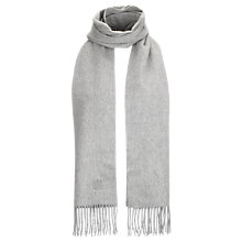 Buy Aquascutum Plain Wool Scarf, Grey Online at johnlewis.com