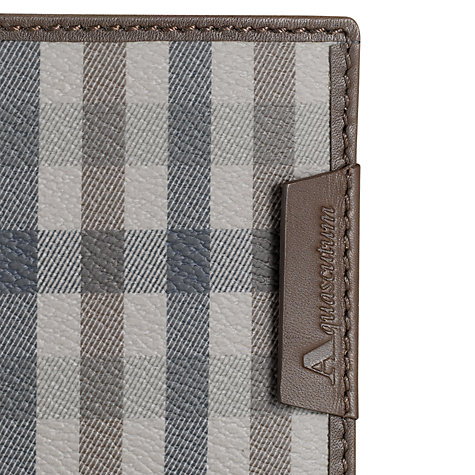 Buy Aquascutum Club Check Billfold Wallet, Brown Online at johnlewis.com