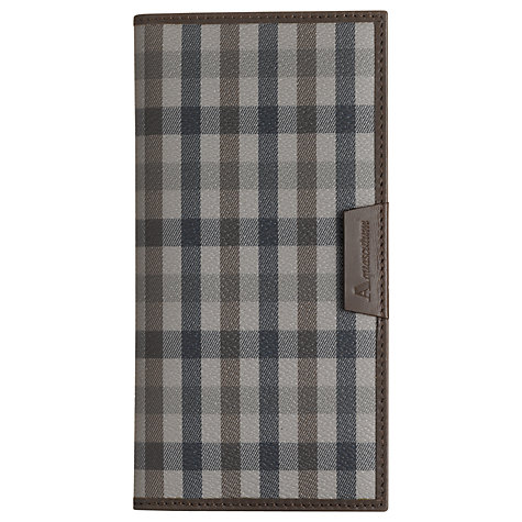Buy Aquascutum Large Club Check Wallet, Brown Online at johnlewis.com