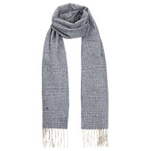 Buy Aquascutum Cashmere and Wool Check Scarf, Blue Online at johnlewis.com