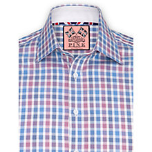 Buy Thomas Pink Maida Check Shirt, Blue/Red Online at johnlewis.com