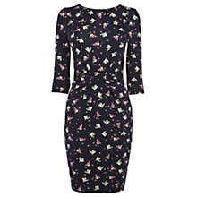 Buy Warehouse Bird Print Dress, Navy Online at johnlewis.com