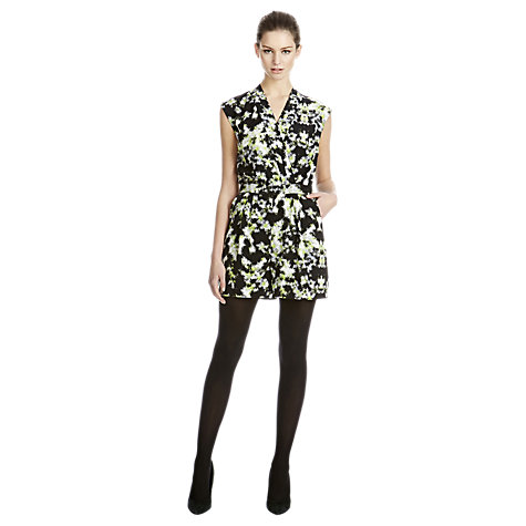 Buy Warehouse Blurred Neon Print Playsuit, Lime Online at johnlewis.com