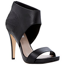 Buy Dune Hanah Leather Reptile Effect Ankle Cuff Contrast Stiletto, Black Online at johnlewis.com