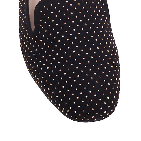 Buy Carvela Linseed Slipper Shoes, Black Online at johnlewis.com