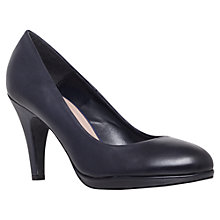 Buy Carvela Alas Leather Round Toe Court Shoes, Navy Online at johnlewis.com