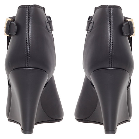 Buy Carvela Small Leather Peep-Toe Ankle Boots, Black Online at johnlewis.com