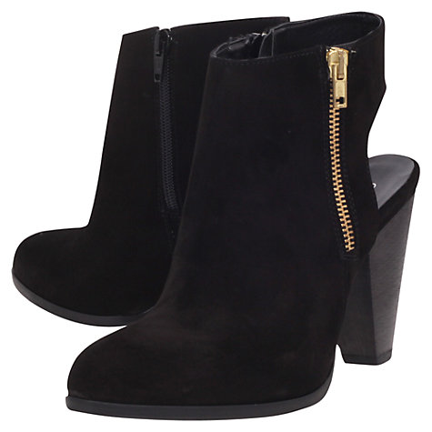 Buy Carvela Shy Suede Backless Cone Heel Ankle Boots, Black Online at johnlewis.com