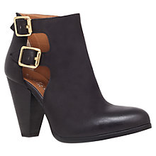 Buy Carvela Shylock Leather Cutaway Side Ankle Boots, Black Online at johnlewis.com