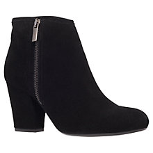 Buy Carvela Super Suede Block Heel Ankle Boots, Black Online at johnlewis.com