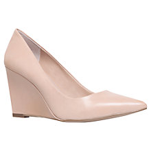 Buy Carvela Abbie Leather Court Shoes, Nude Online at johnlewis.com