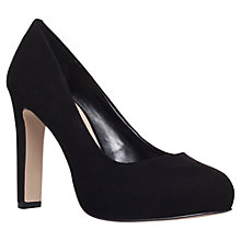 Buy Carvela Aware Leather Court Shoes, Black Online at johnlewis.com