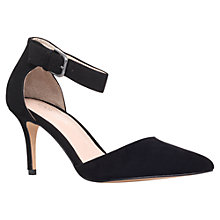 Buy Carvela Argue Suede Court Shoes, Black Online at johnlewis.com