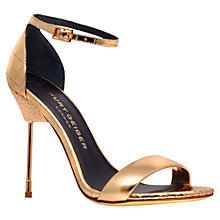 Buy Kurt Geiger Belgravia Heeled Sandals, Gold Online at johnlewis.com