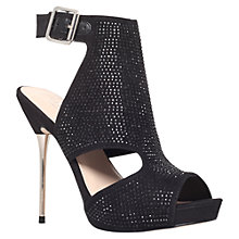 Buy Carvela Glory Cut-Out Diamante Stiletto Sandals, Black Online at johnlewis.com