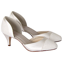 Buy Rainbow Club Extra Wide Fit Aspen Lace And Satin Court Shoes, Ivory Online at johnlewis.com