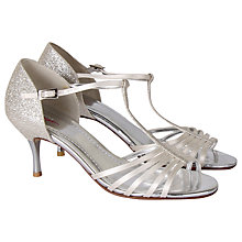 Buy Rainbow Club Florrie Satin Court Shoes, Ivory Online at johnlewis.com