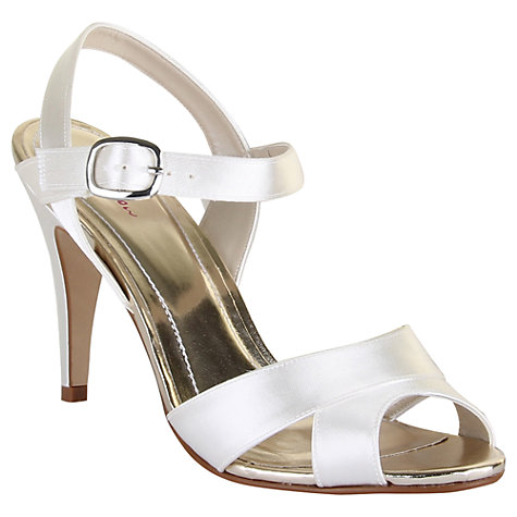 Buy Rainbow Club Nigella Satin Sandals, Ivory Online at johnlewis.com