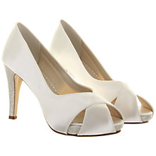 Buy Rainbow Club Safia Satin Cross-Over Court Shoes, Ivory Online at johnlewis.com