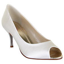 Buy Rainbow Club Saffron Peep Toe Court Shoes, Ivory Online at johnlewis.com
