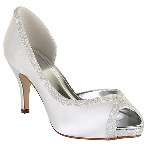 Buy Rainbow Club Carrie Satin Court Shoes, Ivory Online at johnlewis.com