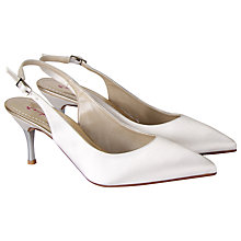Buy Rainbow Club Kay Satin Slingback Court Shoes, Ivory Online at johnlewis.com